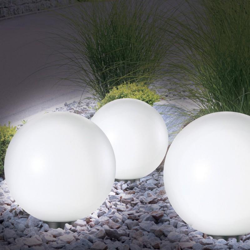lampe boule 30 cm led solaire x2 eclairage et d coration. Black Bedroom Furniture Sets. Home Design Ideas