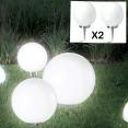 Lampe boule 30 cm led solaire X2