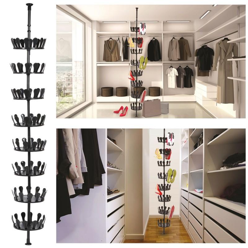 Carrousel chaussures t lescopique rangement 48 paires - Rangement chaussures castorama ...