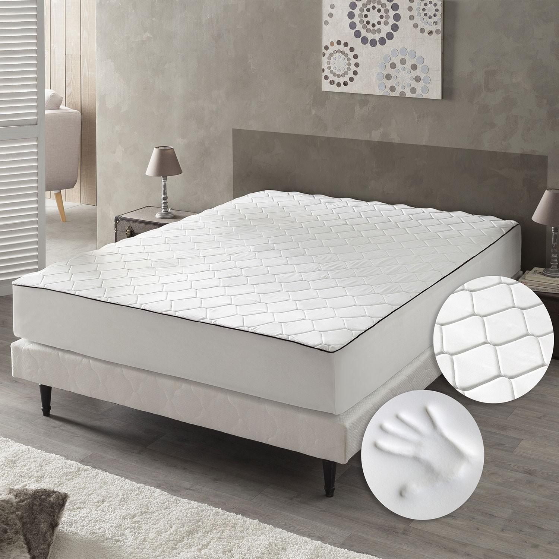 matelas memoire de forme 140x190 affordable orphea matelas x memoire de forme blanc cm u ua. Black Bedroom Furniture Sets. Home Design Ideas