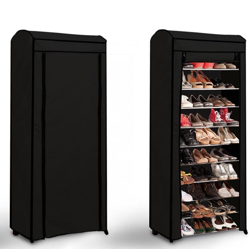 Etag re range chaussures 30 paires eco avec sa housse for Housse pour etagere