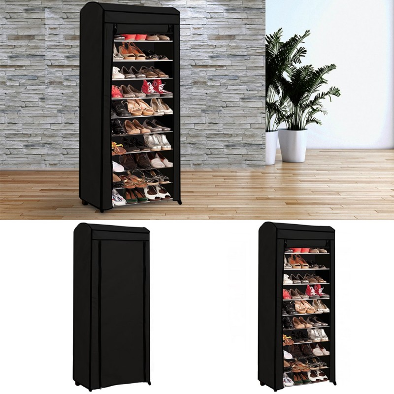 etag re range chaussures 30 paires eco avec sa housse noire meuble. Black Bedroom Furniture Sets. Home Design Ideas