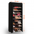 Etagère range chaussures 30 paires ECO avec sa housse noire