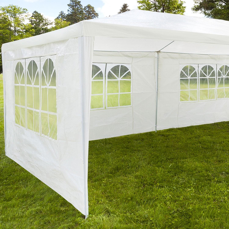 chapiteau 3x12m tente de r ception blanche tonnelle avec 8. Black Bedroom Furniture Sets. Home Design Ideas