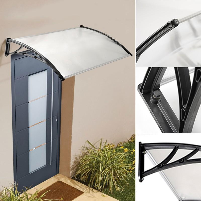auvent de porte marquise d 39 accueil 80x150 cm polycarbonate d corat. Black Bedroom Furniture Sets. Home Design Ideas