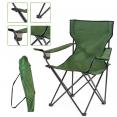 Fauteuil camping pliant vert avec housse