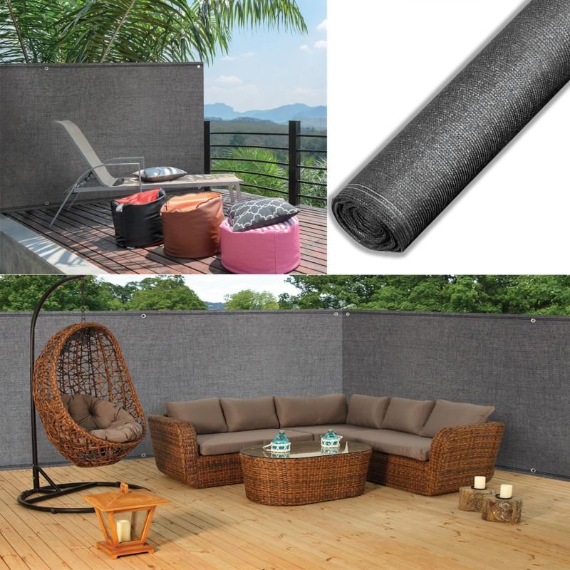 brise vue haute densit gris 1 5 x 10 m 300 gr m qualit pro bris. Black Bedroom Furniture Sets. Home Design Ideas