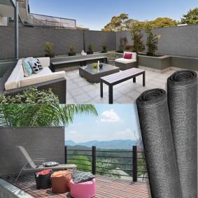 Brise vue haute densité gris 1,8 x 10 m 300 gr/m² qualité pro