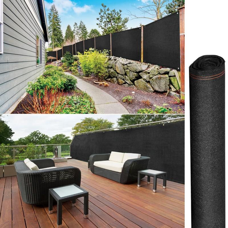 Brise vue renforc 1 5 x 10 m noir 220 gr m luxe pro for Destockage brise vue