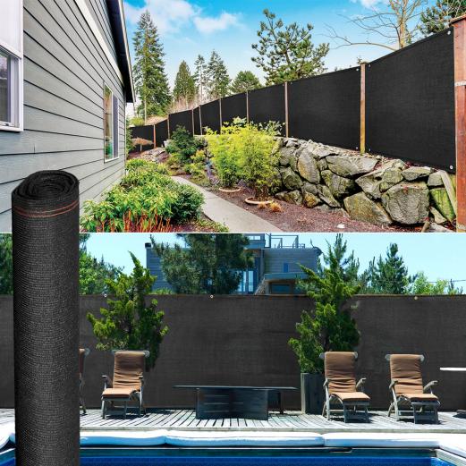 Brise vue renforcé 1,5 x 10 m noir 220 gr/m² luxe pro
