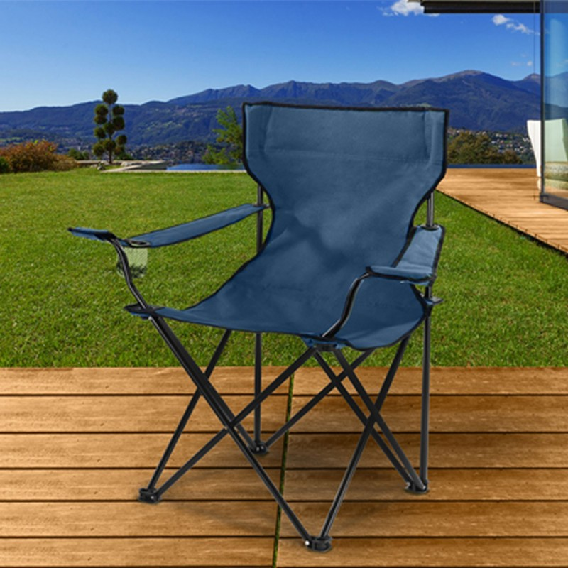 fauteuil camping pliant bleu avec housse paravent et. Black Bedroom Furniture Sets. Home Design Ideas
