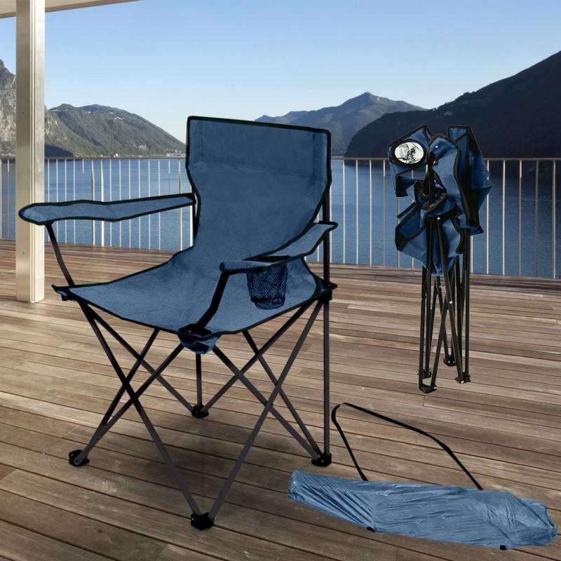 fauteuil camping pliant bleu avec housse piscine et jeux. Black Bedroom Furniture Sets. Home Design Ideas