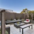 Brise vue renforcé 1,5 x 10 m taupe 220 gr/m² luxe pro