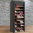 Étagère range chaussures 30 paires ECO avec housse grise