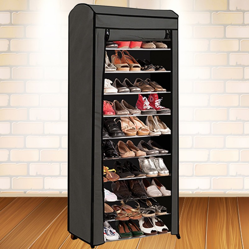 tag re range chaussures 30 paires eco avec housse grise. Black Bedroom Furniture Sets. Home Design Ideas