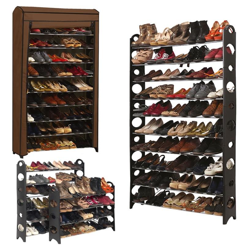 Etag re range chaussures modulable 50 paires meubles et - Range chaussures telescopique ...