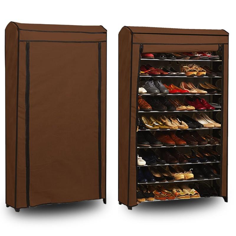 Etag re range chaussures 50 paires modulable housse for Housse pour etagere