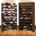 Etagère range chaussures 50 paires modulable + housse chocolat