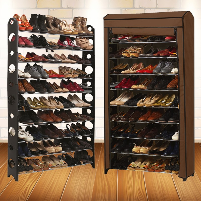 etag re range chaussures 50 paires modulable housse. Black Bedroom Furniture Sets. Home Design Ideas