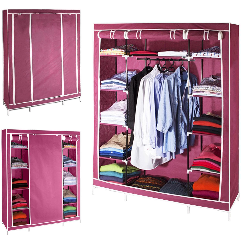 armoire de rangement bordeaux dressing penderie xxl tissu meubles. Black Bedroom Furniture Sets. Home Design Ideas