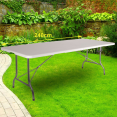 Maxi table pliante d'appoint portable camping réception 240 cm