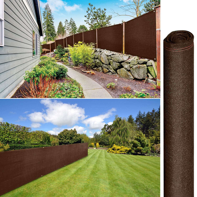 brise vue renforc 1 8 x 10 m marron 220 gr m luxe pro brise vues. Black Bedroom Furniture Sets. Home Design Ideas