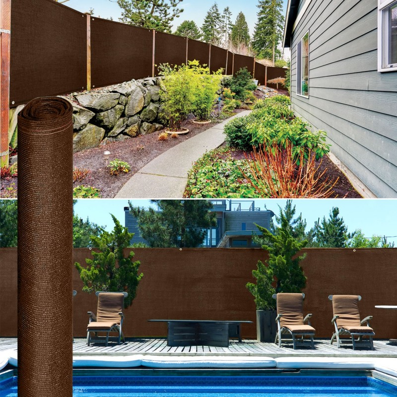Brise vue renforc 1 5 x 10 m marron 220 gr m luxe pro for Destockage brise vue