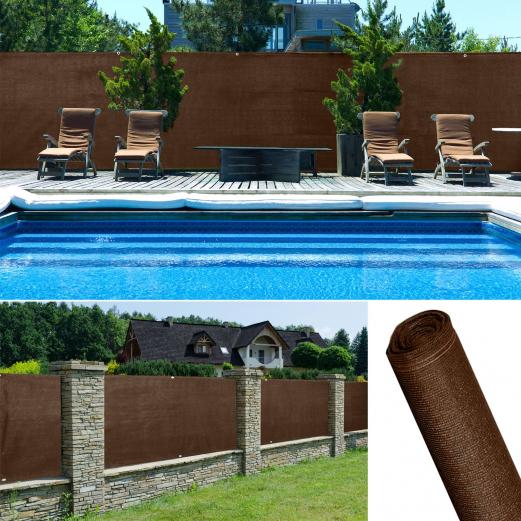 Brise vue renforc 1 x 10 m marron 220 gr m luxe pro for Destockage brise vue
