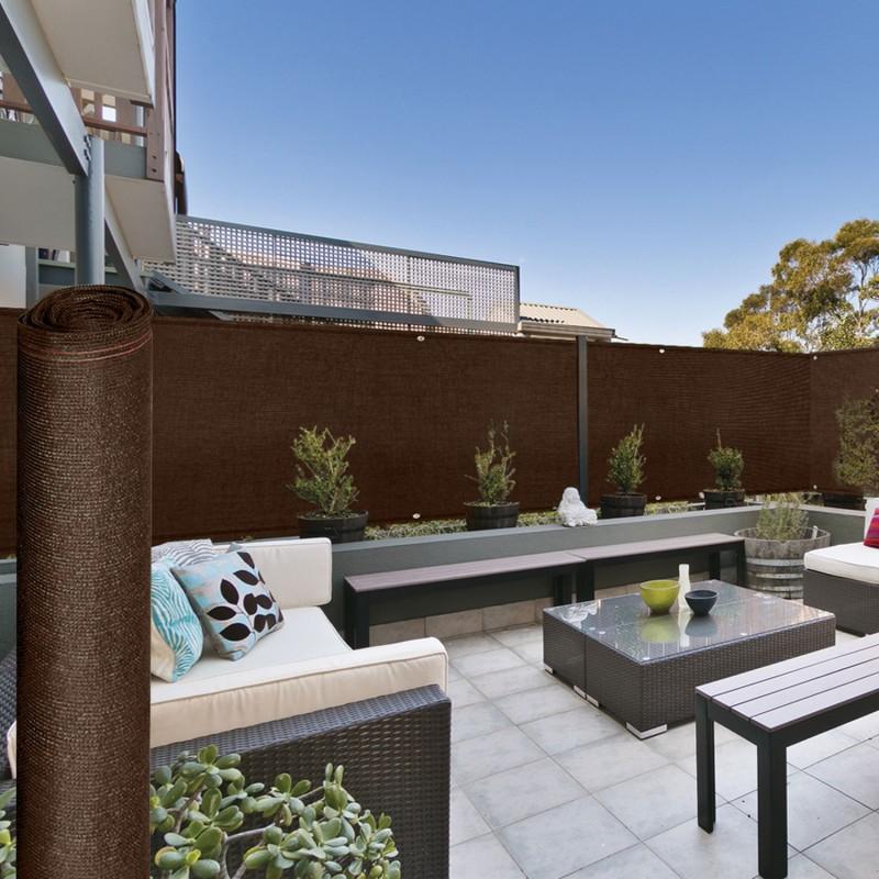Brise vue renforcé 2 x 10 m marron 220 gr/m² luxe pro ...