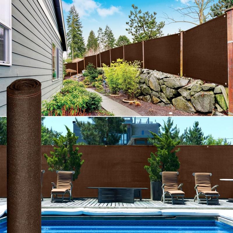 Brise vue renforc 2 x 10 m marron 220 gr m luxe pro for Destockage brise vue