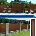 Brise vue renforcé 1,5 x 10 m marron 220 gr/m² luxe pro