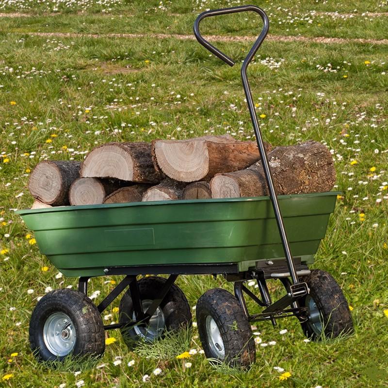 Chariot remorque de jardin vert basculant chariots et - Chariot de jardin xxl ...