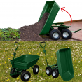 Chariot remorque de jardin 52L vert basculant