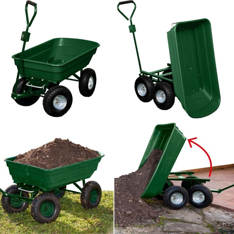 chariot remorque de jardin vert basculant chariots et. Black Bedroom Furniture Sets. Home Design Ideas