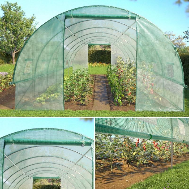 grande serre de jardin tunnel toutes saisons 18 m 180gr m verte. Black Bedroom Furniture Sets. Home Design Ideas