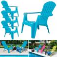 Fauteuil chaise de jardin confort lot X4 bleu