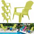 Fauteuil chaise de jardin confort lot X4 vert