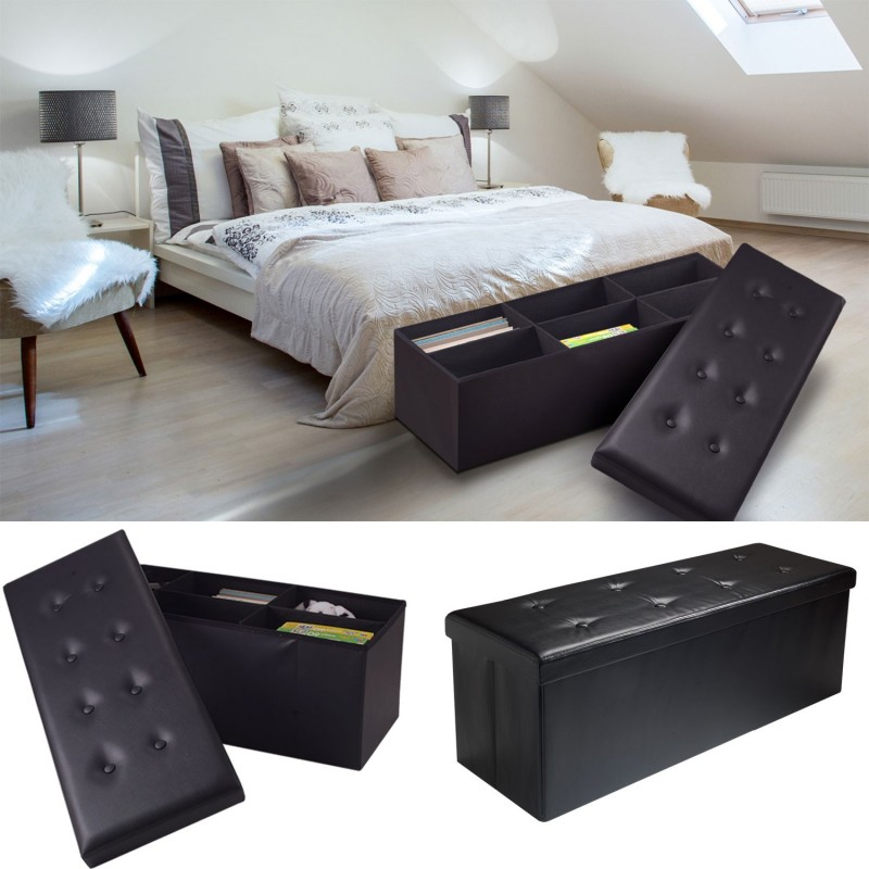 banc coffre pour chambre a coucher pied acier design de maison. Black Bedroom Furniture Sets. Home Design Ideas
