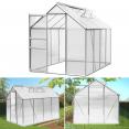 Serre de jardin aluminium et polycarbonate 4.75 m² 250x190x195 cm translucide