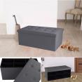Banc coffre 6 compartiments gris 100x38x38cm PVC