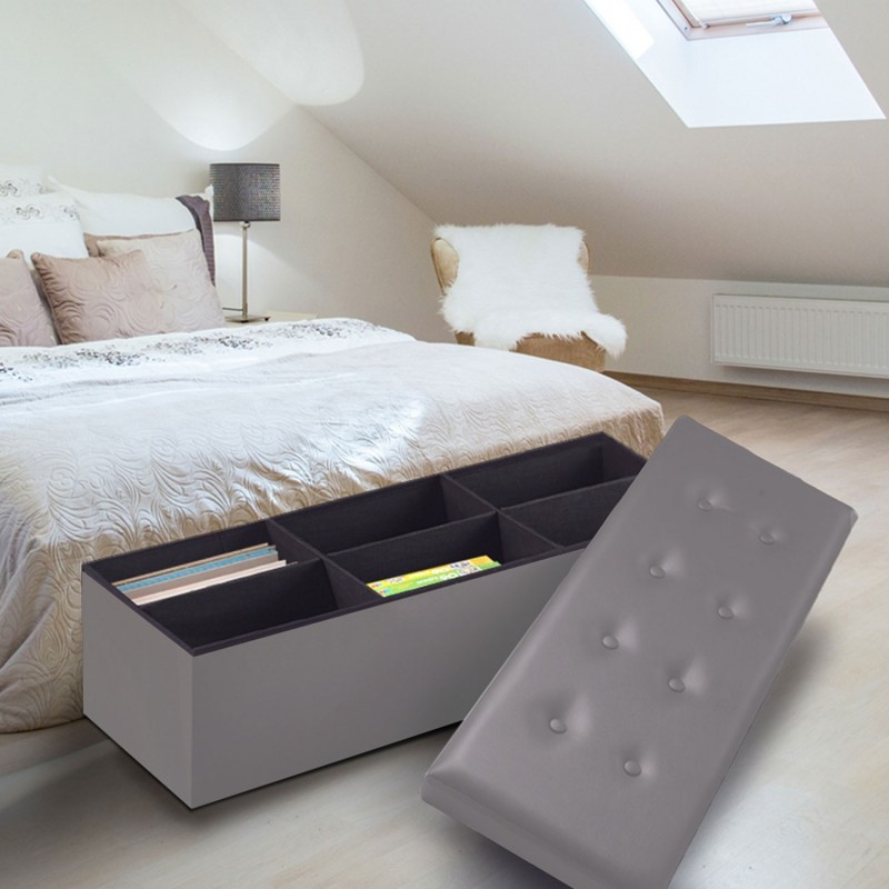 banc coffre pour chambre a coucher pied acier design de maison. Black Bedroom Furniture Sets. Home Design Ideas