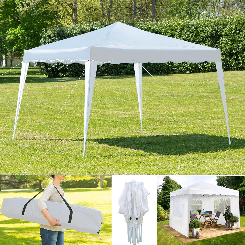chapiteau pliable blanc 3x3m 3 murs tente de r ception chapiteau. Black Bedroom Furniture Sets. Home Design Ideas