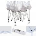 Chapiteau pliable blanc 3x3m + 3 murs tente de réception
