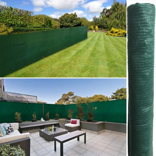 Brise vue vert 1m par 5m standard 90 gr / m²