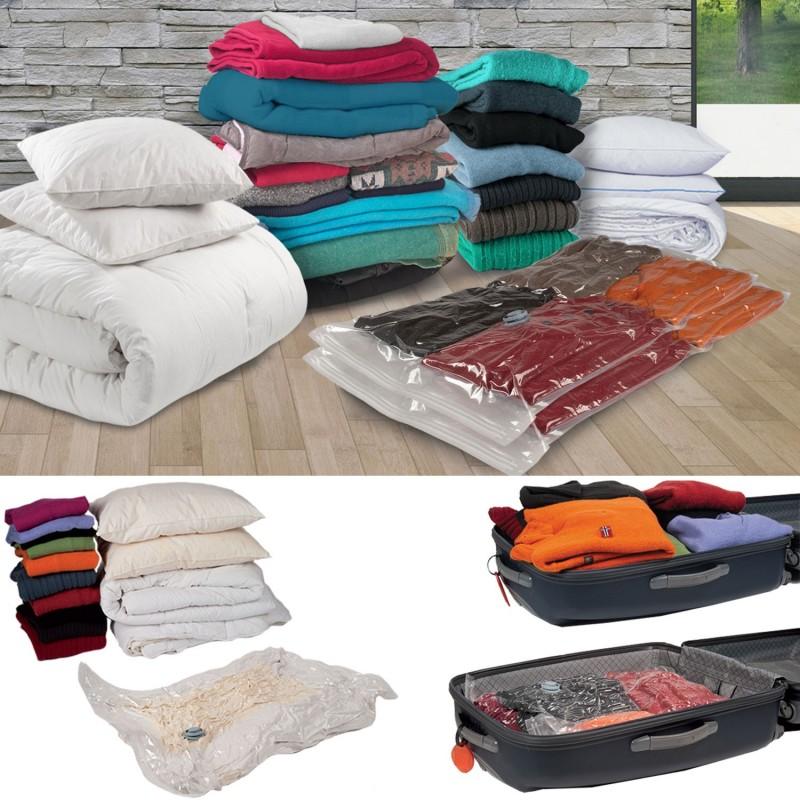 housse de rangement sous vide x2 80x120 cm linge et. Black Bedroom Furniture Sets. Home Design Ideas