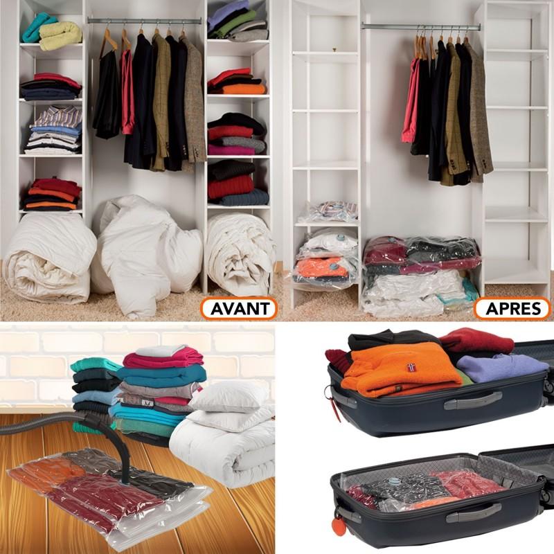 housse de rangement sous vide x2 80x120 cm linge et entretien de l. Black Bedroom Furniture Sets. Home Design Ideas