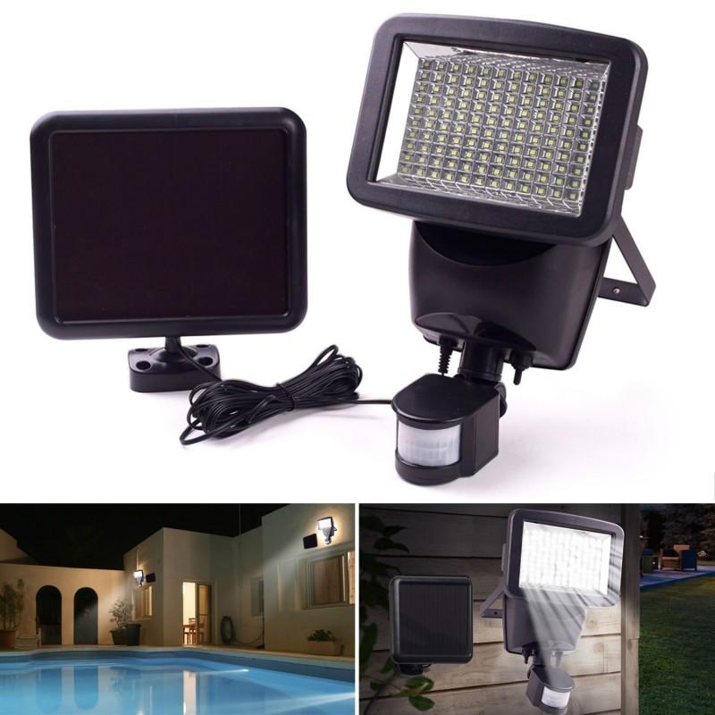 projecteur solaire 120 led avec d tecteur de mouvement. Black Bedroom Furniture Sets. Home Design Ideas