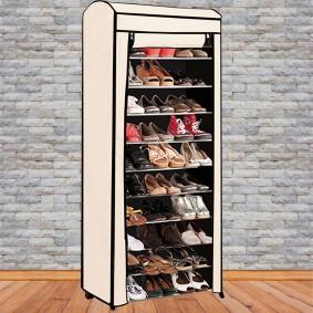 Housse pour étagère range chaussures 30 paires modulable 2 en 1
