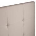 Tête de lit capitonnée tissu 160x60 cm écrue