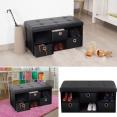 Banc coffre 3 tiroirs noir 76x38x38 cm PVC pliable